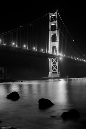 The Golden Gate on a still clear night